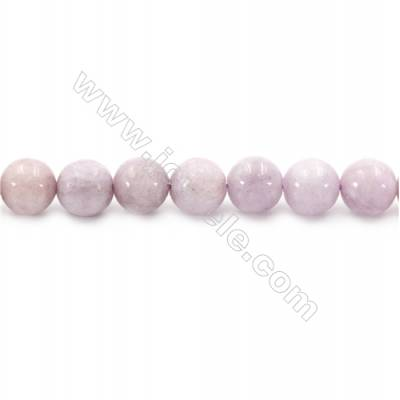 Natural Kunzite Beads Strand  Round  diameter 10mm  hole 1mm  about 42 beads/strand 15~16""