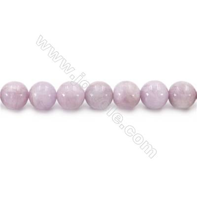 Natural Kunzite Beads Strand  Round  diameter 12mm  hole 1mm  about 36 beads/strand  15~16""