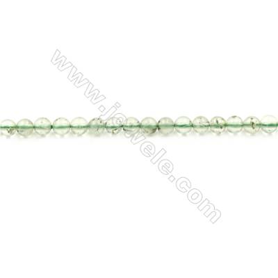 Natural Prehnite Beads Strand  Round  diameter 4mm  hole 0.8mm  about 90 beads/strand 15~16""