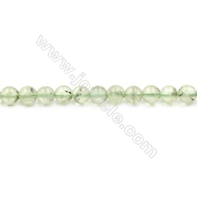 Natural Prehnite Beads Strand  Round  diameter 6mm  hole 1mm  about 66 beads/strand 15~16""