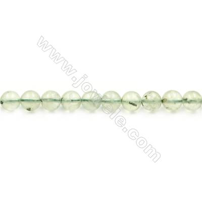 Natural Prehnite Beads Strand  Round  diameter 8mm  hole 1mm  about 46 beads/strand 15~16""
