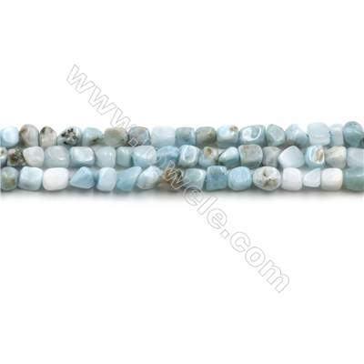 "Natural Copper Pectolite/ Larimar Beads Strands, Nuggets, Size: about 4mm, Hole 0.6mm, 15~16""/strand"