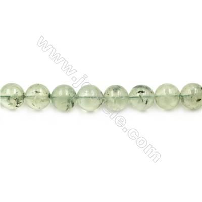 Natural Prehnite Beads Strand  Round  diameter 12mm  hole 1.5mm  about 32 beads/strand 15~16""