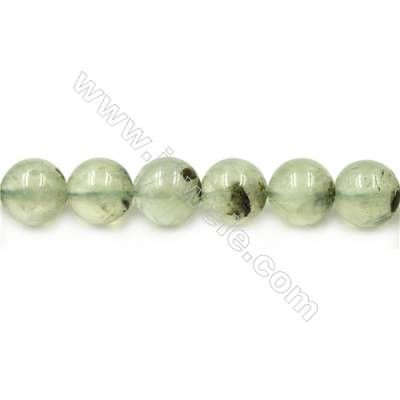 Natural Prehnite Beads Strand  Round  diameter 14mm  hole 1.5mm  about 27 beads/strand 15~16""