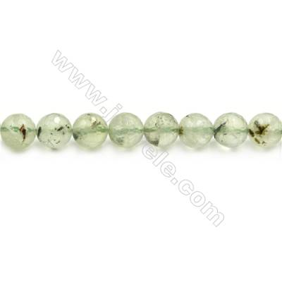 Natural Prehnite Beads Strand  Round  diameter 10mm  hole 1mm  about 40 beads/strand 15~16""