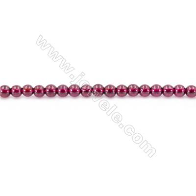 Natural  Garnet Beads Strand  Round  diameter 3mm  hole 0.8mm  about 136 beads/strand 15~16""