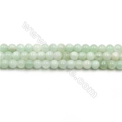 "Natural Green Moonstone Beads Strands, Round, Size 4mm, Hole 0.6mm, 15~16""/strand"