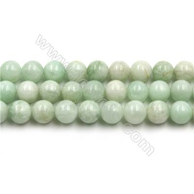 "Natural Green Moonstone Beads Strands, Round, Size 10mm, Hole 1mm, 15~16""/strand"