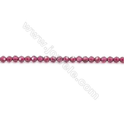 Natural Garnet Beads Strand Faceted Round  diameter 4mm  hole 0.8mm  about 101 beads/strand 15~16""