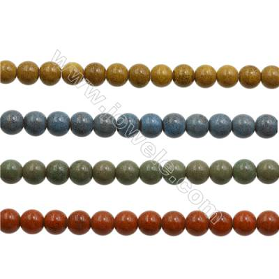 Handmade Mix Color Porcelain/Ceramic Beads Strands, Abacus, Size 9x10mm, Hole 3mm, about 42 beads/strand 15~16""