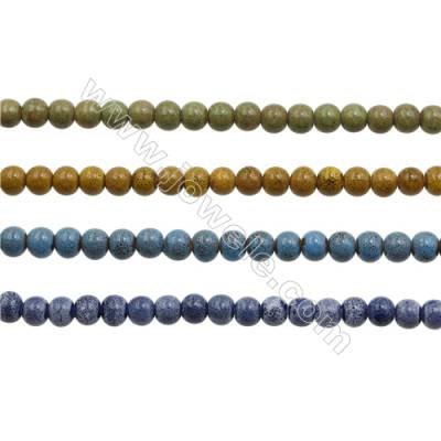 Handmade Mix Color Porcelain/Ceramic Beads Strands, Abacus, Size 7x8mm, Hole 2mm, about 54 beads/strand 15~16""