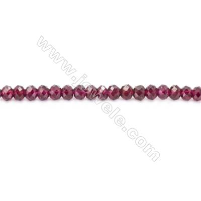 Natural Garnet Beads Strand Faceted Abacus  Size 3x4mm  hole 1mm  about 121 beads/strand 15~16""