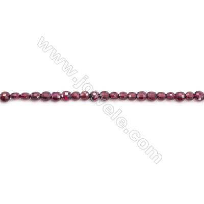Natural Garnet Beads Strand Faceted Round  diameter 4mm  hole 0.8mm  about 100 beads/strand 15~16""