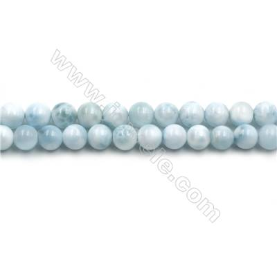 "Grade A Natural Copper Pectolite/ Larimar Beads Strands, Round, Size 6mm, Hole 0.8mm, 15~16""/strand"