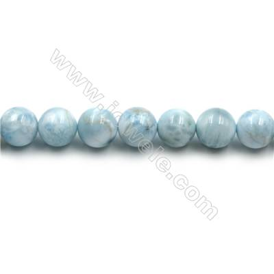 "Grade A Natural Copper Pectolite/ Larimar Beads Strands, Round, Size 10mm, Hole 1mm, 15~16""/strand"