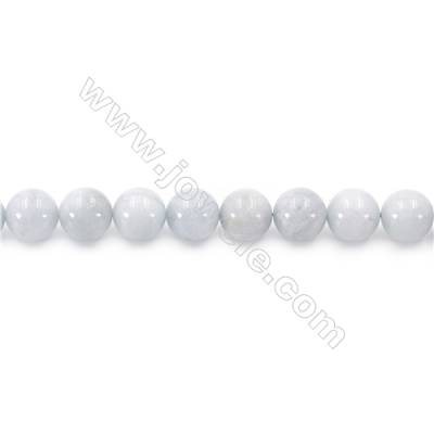 Natural Aquamarine Beads Strand Round  diameter 10mm  hole 1mm  about 39 beads/strand 15~16""