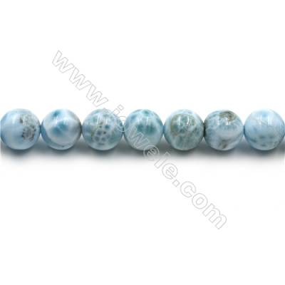 "Grade A Natural Copper Pectolite/ Larimar Beads Strands, Round, Size 12mm, Hole 1mm, 15~16""/strand"