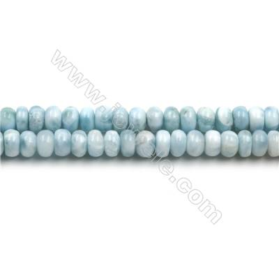 "Grade A Natural Copper Pectolite/ Larimar Beads Strands, Abacus, Size 4x7mm, Hole 0.8mm, 15~16""/strand"