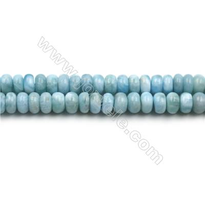 "Grade A Natural Copper Pectolite/ Larimar Beads Strands, Abacus, Size 5x8mm, Hole 0.8mm, 15~16""/strand"