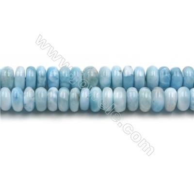 "Grade A Natural Copper Pectolite/ Larimar Beads Strands, Abacus, Size 5x10mm, Hole 1mm, 15~16""/strand"