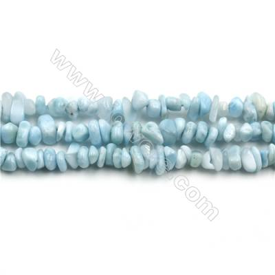 "Grade A Natural Copper Pectolite/ Larimar Beads Strands, Chips, Size 4~6x4~10mm, Hole 0.8mm, 15~16""/strand"
