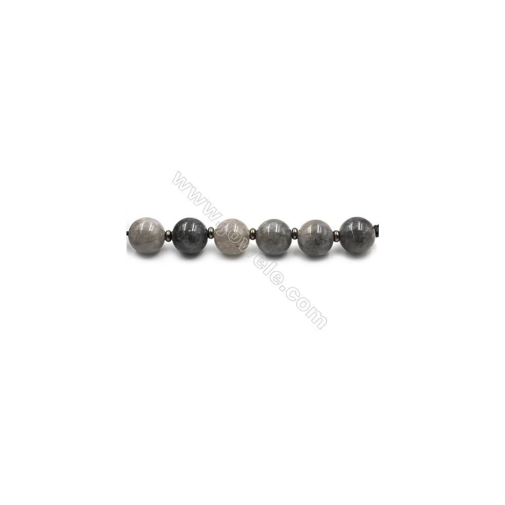 "Natural Cloud Quartz Beads Strands, Large Round Beads, Size 30mm, Hole 4.5mm, 15~16""/strand, 6 beads"