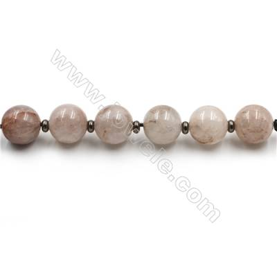 "Natural Rose Quartz Beads Strands, Large Round Beads, Size 30mm, Hole 4.5mm, 15~16""/strand, 6 beads"