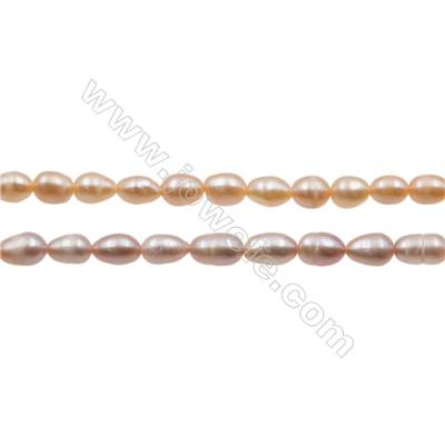 "Multicolor Natural Fresh Water Pearl, Size 4~5mm, Hole 0.7mm, 15~16""/strand"