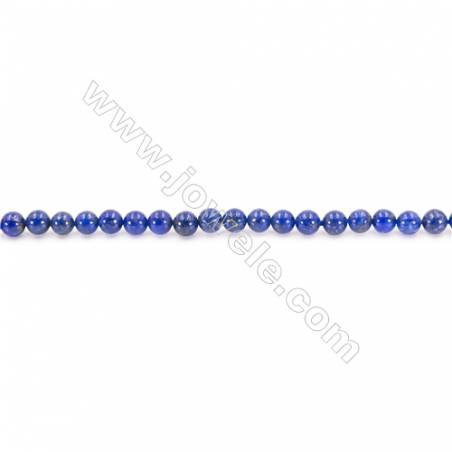 Natural Lapis Lazuli Beads Strand Round  Diameter  3mm  hole 0.6mm  about 132 beads/strand 15~16""