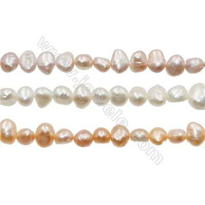 "Multicolor Natural Fresh Water Pearl, Size 6~7mm, Hole 0.7mm, 15~16""/strand"