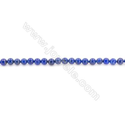 Natural Lapis Lazuli Beads Strand Round  Diameter  4mm  hole 0.8mm  about 97 beads/strand 15~16""