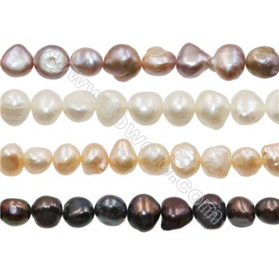"Multicolor Natural Fresh Water Pearl, (Dyed), Size 11~12mm, Hole 0.7mm, 15~16""/strand"