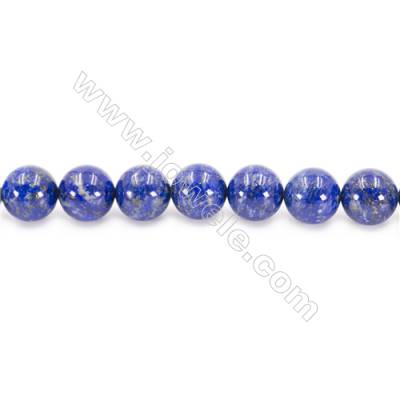 Natural Lapis Lazuli Beads Strand Round  Diameter  12mm  hole 1.5mm  about 33 beads/strand 15~16""