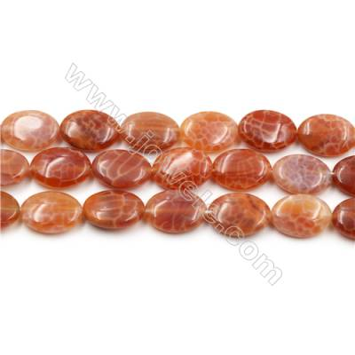 "Natural Fire Agate Beads Strands, Oval, Size 13x18mm, Hole 0.8mm, 15~16""/strand"
