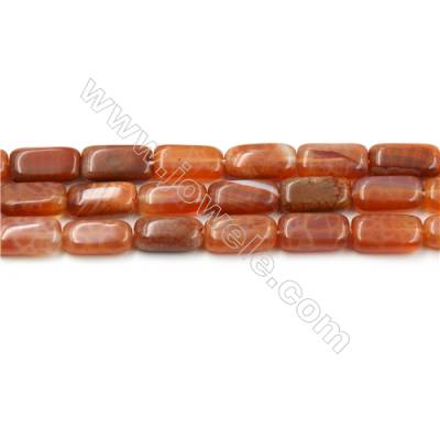 "Natural Fire Agate Beads Strands, Rectangle, Size 6x12mm, Hole 0.8mm, 15~16""/strand"