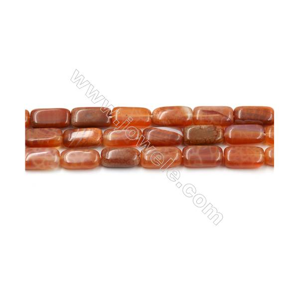 """Natural Fire Agate Beads Strands, Rectangle, Size 6x12mm, Hole 0.8mm, 15~16""""/strand"""