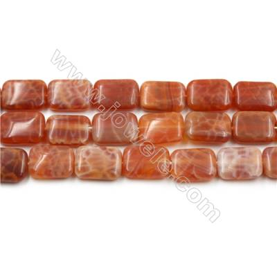 "Natural Fire Agate Beads Strands, Rectangle, Size 10x14mm, Hole 0.8mm, 15~16""/strand"