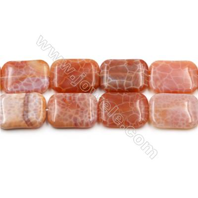 "Natural Fire Agate Beads Strands, Rectangle, Size 22x30mm, Hole 1mm, 15~16""/strand"