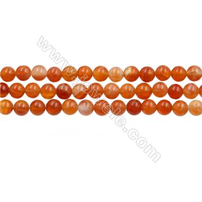 "Natural Fire Agate Beads Strands, Round, Size 4mm, Hole 0.6mm, 15~16""/strand"