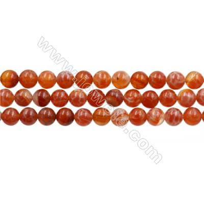 "Natural Fire Agate Beads Strands, Round, Size 6mm, Hole 0.8mm, 15~16""/strand"