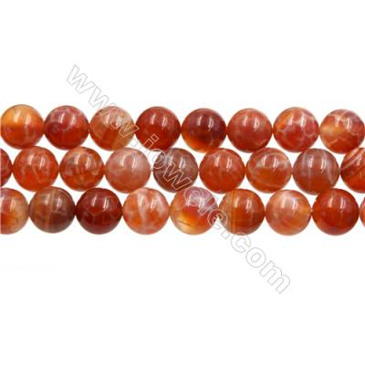 "Natural Fire Agate Beads Strands, Round, Size 10mm, Hole 1mm, 15~16""/strand"