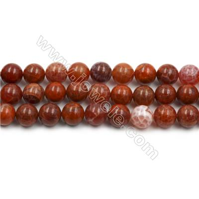 "Natural Fire Agate Beads Strands, Round, Size 14mm, Hole 1mm, 15~16""/strand"