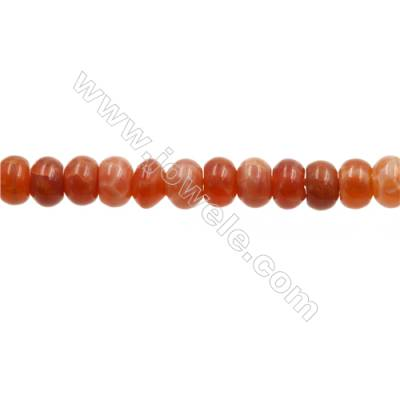 "Natural Fire Agate Beads Strands, Abacus, Size 4x6mm, Hole 1mm, 15~16""/strand"