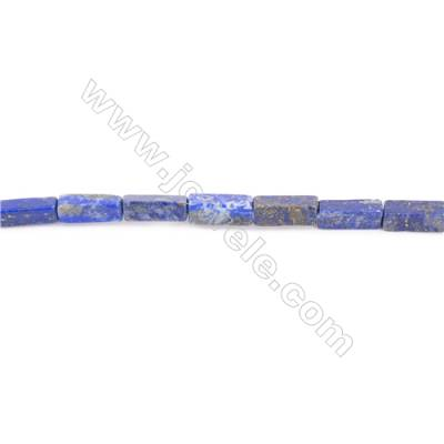 Natural Lapis Lazuli Beads Strand Cuboid  Size 13x4x4mm  hole 1mm  about 40 beads/strand 15~16""