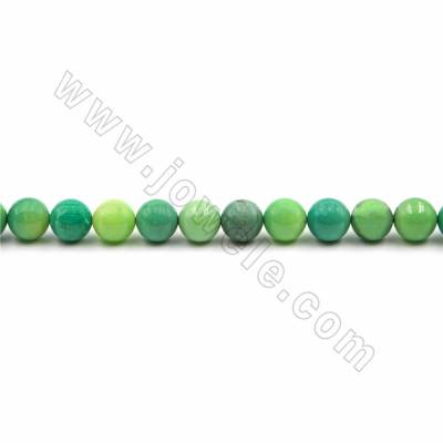 "Natural Green Grass Agate Beads Strand, Round, Size 12mm, Hole 1mm, 15~16""/strand"