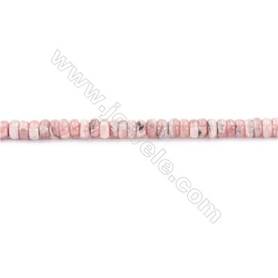 Natural Rhodochrosite Beads Strand  Abacus  Size 4x6mm  hole 1mm  about 132 beads/strand 15~16""