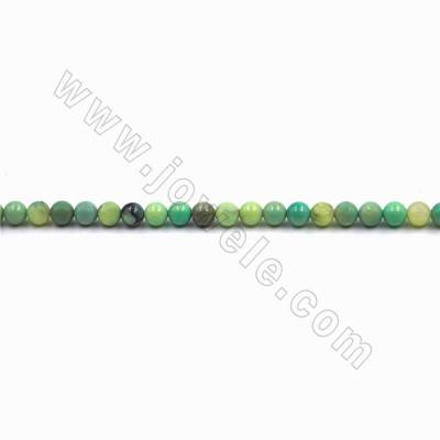 "Natural Green Grass Agate Beads Strand, Round, Size 6mm, Hole 0.8mm, 15~16""/strand"