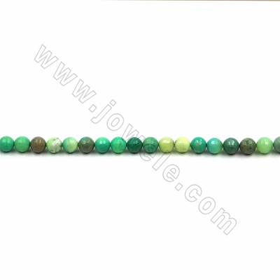 "Natural Green Moss Agate Beads Strand, Faceted Round, Size 8mm, Hole 1mm, 15~16""/strand"
