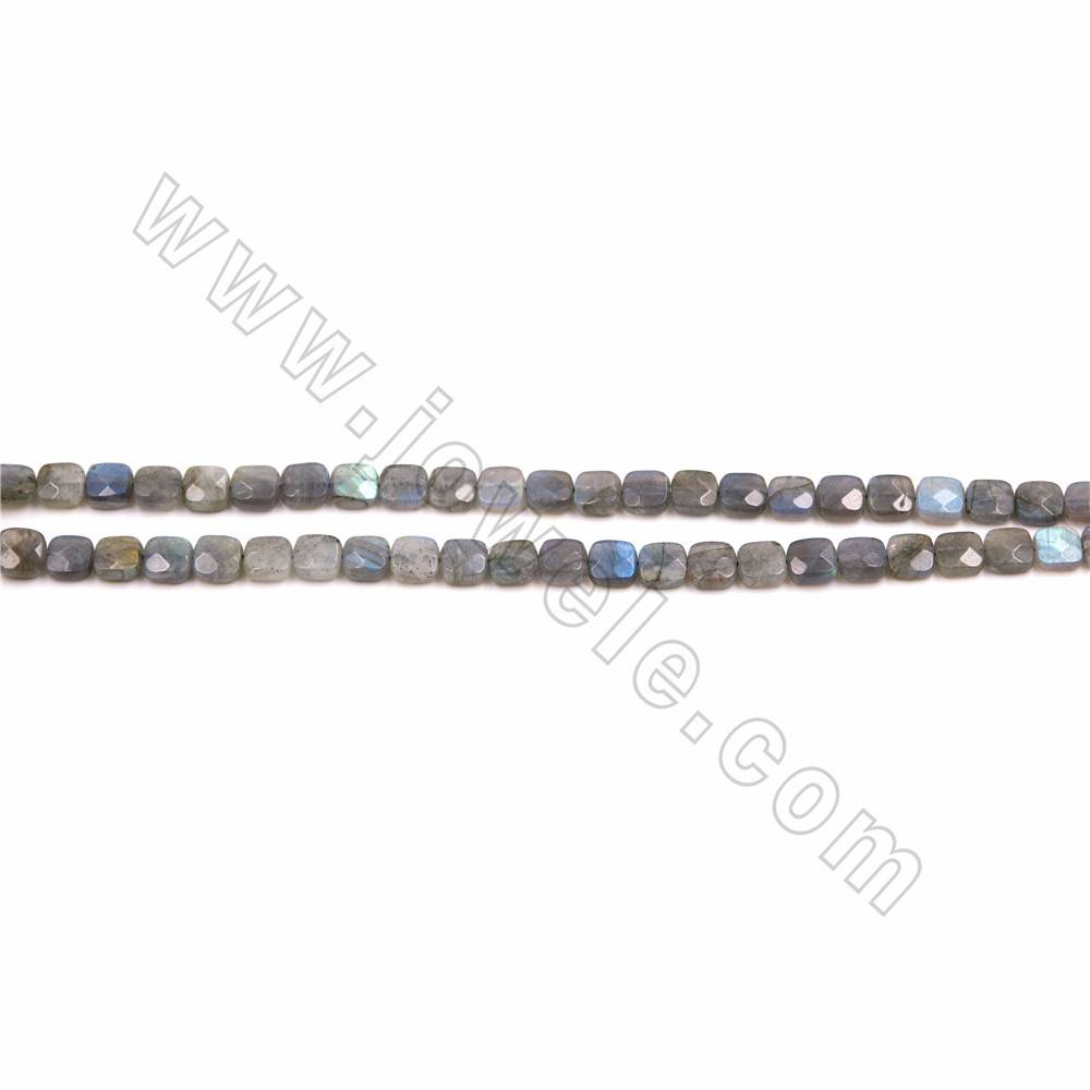 Faceted Labradorite Oval Beads\uff0c Natural Gemstone,15/'/' one strand,13x18mm