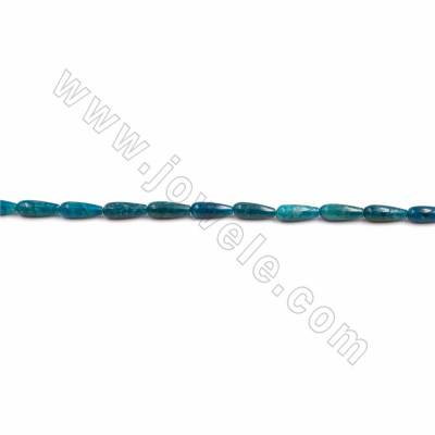 "Natural Blue Apatite Beads Strand, Teardrop, Size 6x16mm, Hole 1mm, 15~16""/strand"